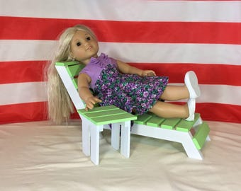 18 Inch Doll Chaise Lounge and Table