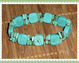 Turquoise Howlite Stretch Bracelet