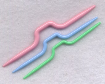 Cable Stitch Needles Knitting Stitch Holders Straights 3 per Package Handy Convenient