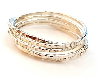 Silver Stacking Ring, Russian Ring, Wedding Ring, Interlocking Ring, Unisex, Gift, Rolling Ring, Handmade, Silver Jewelry, Venexia Jewelry