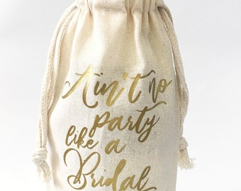 Will you be my bridesmaid Maid of honor proposal Champagne fluets Bridesmaids gifts Ain't no party like a bridal party