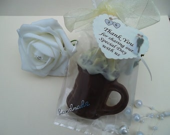 50  bags of Mens Callebaut chocolate beer mug favours/birthdays/weddings/events