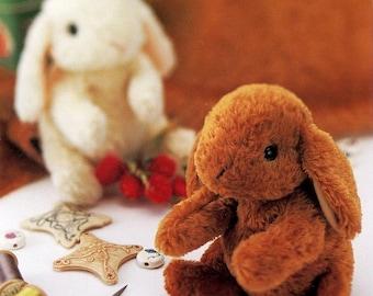 Floppy Eared Bunny Plush Pattern with Tutorial PDF
