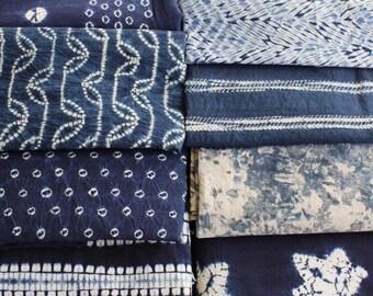 Indigo Fabric for Craft, indigo dyed, patterns, styles for selection