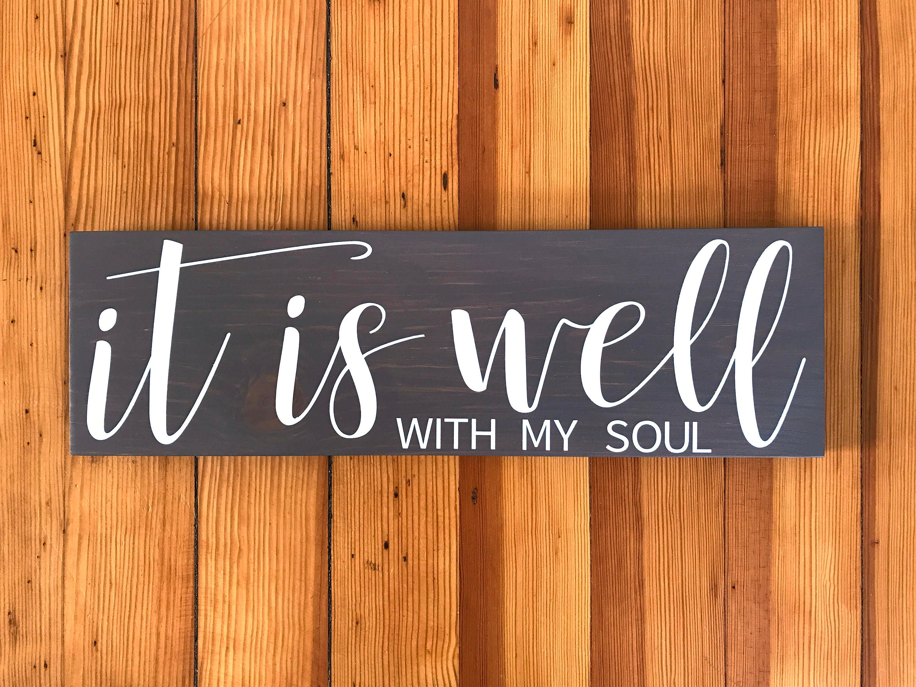 Christian Signs Scripture Wall Art Scripture Signs It Is