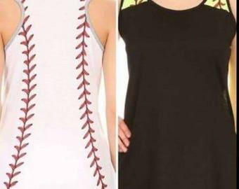 Baseball Sleeveless Tee Shirt