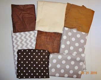 Assorted Shades of Cotton Fabric Remnant Pieces