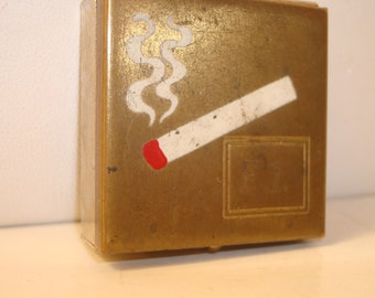 Small vintage hand held ashtray