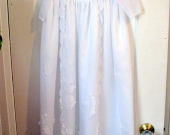 Christening Baptismal Gown, Three Piece Set, Blessing Gown, Dedication Dress, Baptismal Outfit,Newborn Gown, by mailordervintage on etsy