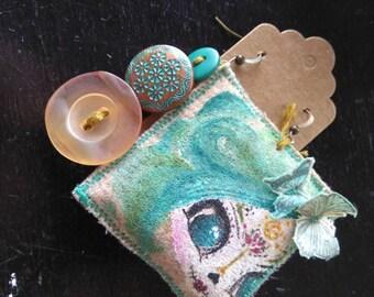 Cute sugar skull hand painted earrings....