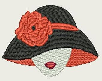 Lady with Hat and flower