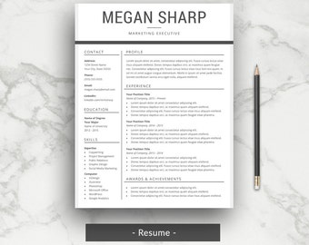 Resume Templates Simple Modern. Professional ...