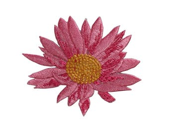 ID 6295 Pink Lotus Flower Patch Plant Garden Pond Embroidered Iron On Applique