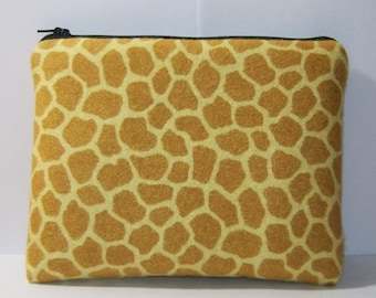 """Giraffe Pipe Pouch, Glass Pipe Case, Pipe Cozy, Giraffe Pouch, Pipe Bag, Padded Pouch, Smoking Accessory, 420, Zipper Bag, 7.5"""" x 6"""" X LARGE"""