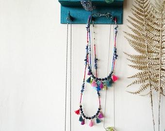 Jewelry Hanger, Jewelry Storage Organizer, Wall Necklace Holder, Jewelry Display, Wall MountJjewelry Organizer, Key Holder for Wall