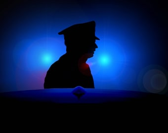 Silhoutte Police Photograph - Silhoutte image - Silhoutte Photograph
