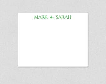 Personalized Stationery, Flat Note Cards, Personalized Note Cards, Couples Thank You Notes, Custom Stationery
