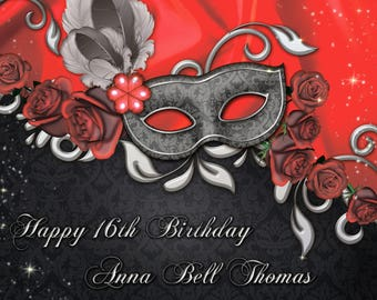 Custom Masquerade Party Banner, Mardi Gras, Masquerade backdrop, Masquerade mask, Masquerade mask, Masquerade party decorations ;1601121