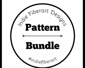Pattern Bundle // Knit or Crochet // Instructions // Choose Any  // Indie Fiberart Designs