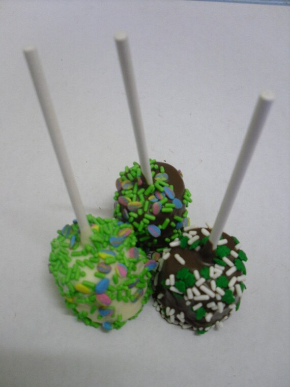 Chocolate Covered Marshmallow Lollipops