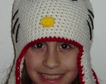Teen Crochet Kitty Hat