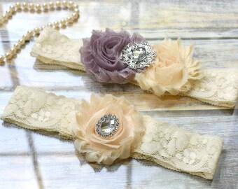 Wedding Garter, Custom Garter, Garter Set, Bridal Garter, Ivory Garter, Vintage Garter, Wedding Garter Set, Keepsake Garter, Toss Garter