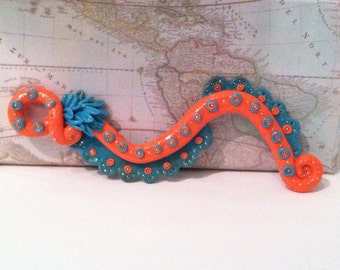 Bejeweled Octopus Tentacle Necklace