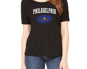 Philadelphia Pennsylvania Womens Shirts Slouchy