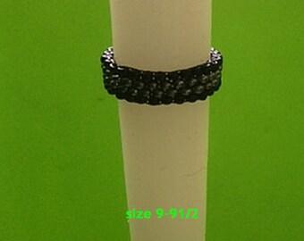 Rings beaded peyote stitch