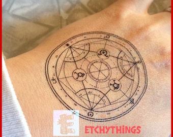FMA Transmutation Circle Temporary Tattoo Human Transmutation Circle Full Metal Alchemist Cosplay