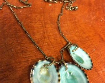 Limpet shell necklace