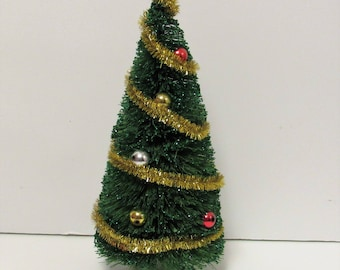 "Bottle Brush Tree Decoration, 8 1/4"" tall"