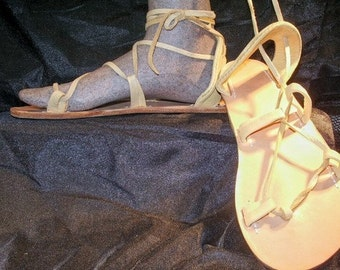 BELLA CARIBE PALOMINO on Oak-Tan Lace Up Sandals