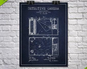 1886 Detektiv Kamera Patent, Poster, Kunstdruck von Patent, Patent Print, Blueprint, Wandkunst, Wohnkultur, Geschenkidee