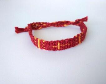 Cross bracelet - Christian bracelet - Friendship bracelet - Knotted bracelet - Christian gift