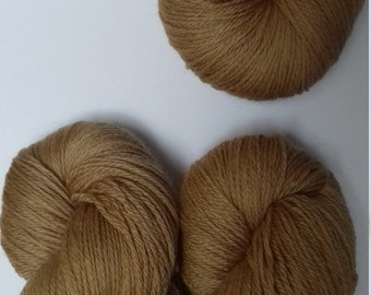 Hand dyed yarn, merino, 4ply, naturally dyed, brown, MER500/B/2