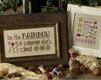 LIZZIE*KATE Be The Rainbow Inspiration Boxer B56 INCLUDES fabric counted cross stitch patterns at thecottageneedle.com Maya Angelou