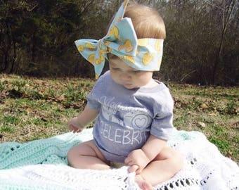 Yellow Duckie Headwrap- Yellow Duckie Headband; Yellow Duckie Bow; Headwrap; Head Wrap; Baby Headband; Toddler Headband; Baby Headwrap