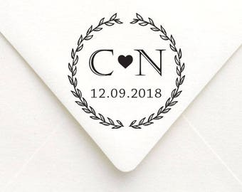 Custom Wedding Save the Date Stamp, Self Inking Wedding Rubber Stamp, Wedding Gift Stamp, Wedding Favor