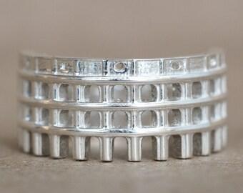Colosseum Ring - Gift for Designer - Men Ring - Ola Shekhtman