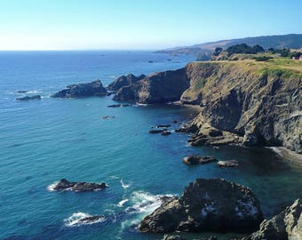 Aerial Photography of Northern California Cliff and coast