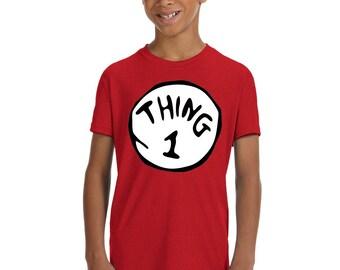 Thing 1, Thing 2 Youth Kids Shirts