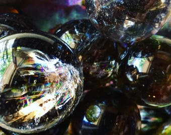 Smokey Quartz Sphere | Rainbow Included Smokey Quartz Crystal Ball | Grounding + Creative Expression for Energy Healing | Reiki + Chakras