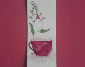 Pampering tea bookmarks