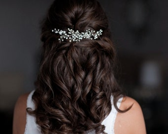 Rhinestone Hair Comb, Wedding Hair Pins, Bridal Rhinestone Hair Vine, Bridal Headpiece