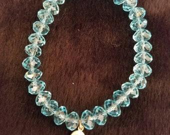 Aqua Crystal Bracelet