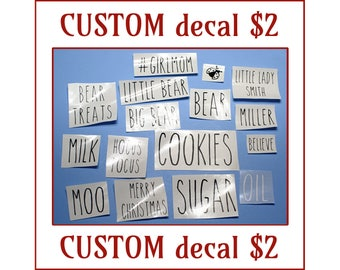 FREE SHIPPING, Rae Dunn Inspired DECALS, Rae Dunn, Rae Dunn Decals, Custom Decals, Rae Dunn Stickers, Pottery Decals, Cutsom Stickers, Mug