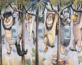 Where the Wild Things Are  Illustration Triple Switch Plate  ***FREE SHIPPING***