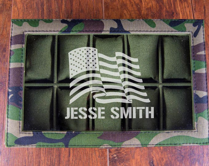 US Veteran Gift Box, Military Gifts, Gifts for Military Men, USA Gift, Patriotic Gift, USA Flag, Personalized, Military Christmas Unique