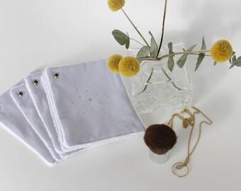 7 lingettes coton démaquillantes grises/carré coton démaquillant/lingettes lavables réutilisables/disques à démaquiller/cadeau pour elle